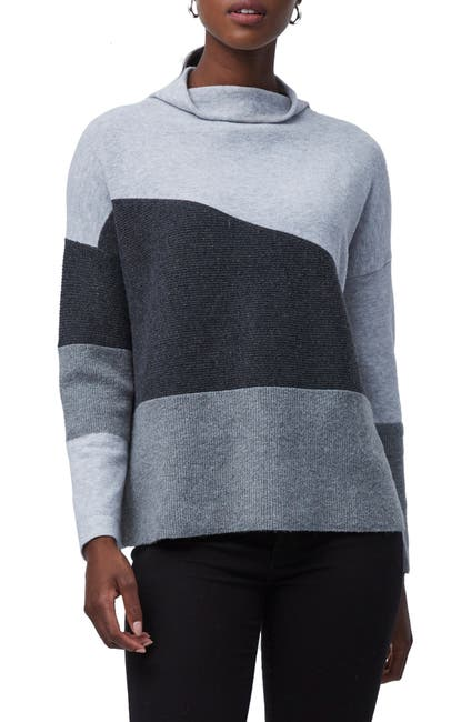 Image of French Connection Sophia Funnel Neck Colorblock Sweater