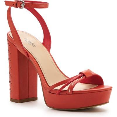 Botkier Petra Ankle Strap Platform Sandal, Red