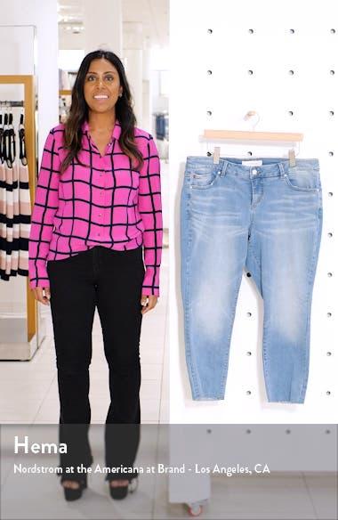 Raw Hem Crop Skinny Jeans, sales video thumbnail
