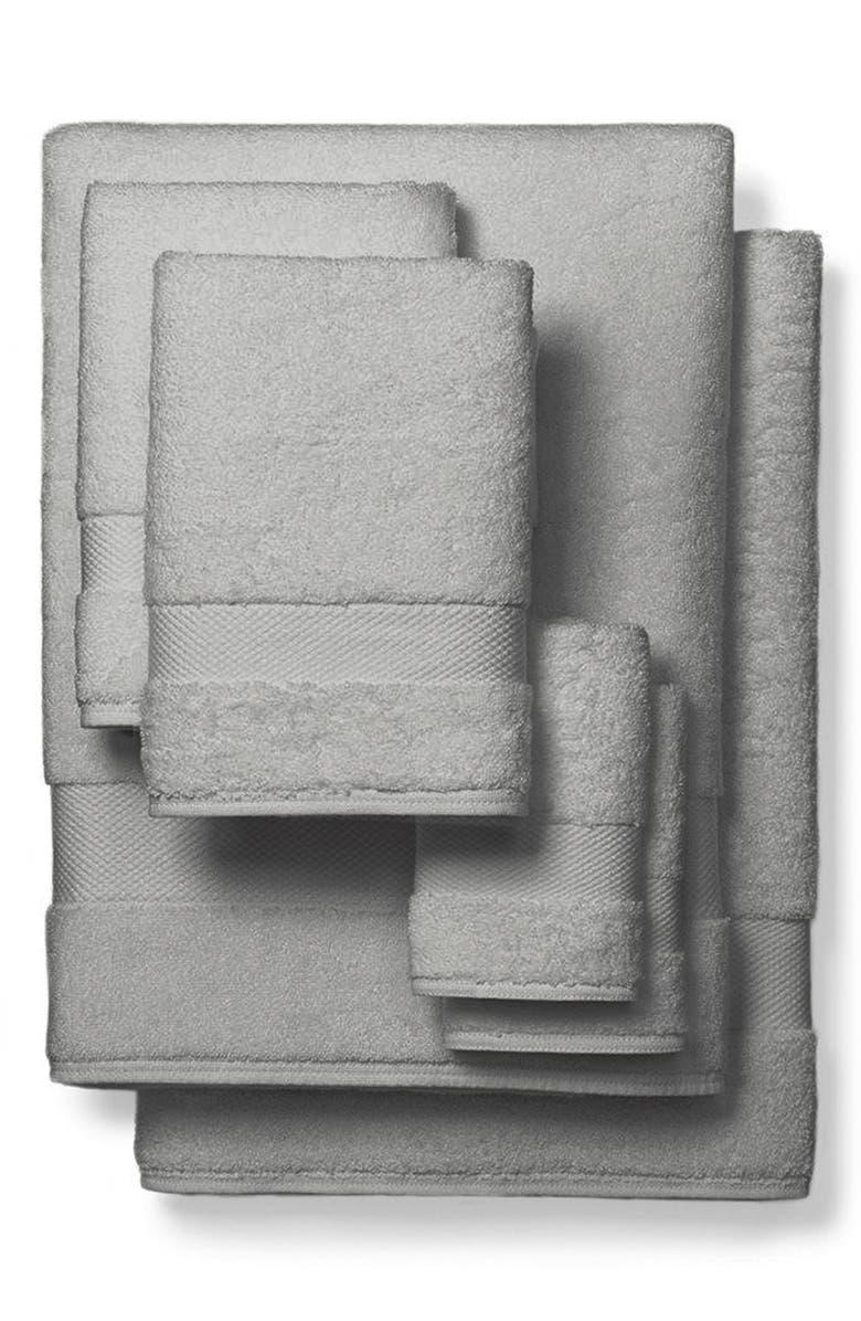 BOLL & BRANCH Organic Cotton Bath Towels, Hand Towels & Washcloths 6-Piece Set, Main, color, 020