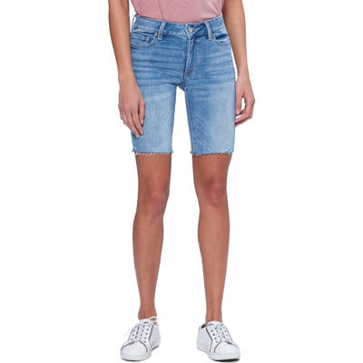 Paige Vintage - Jax Cutoff Bermuda Shorts, Blue