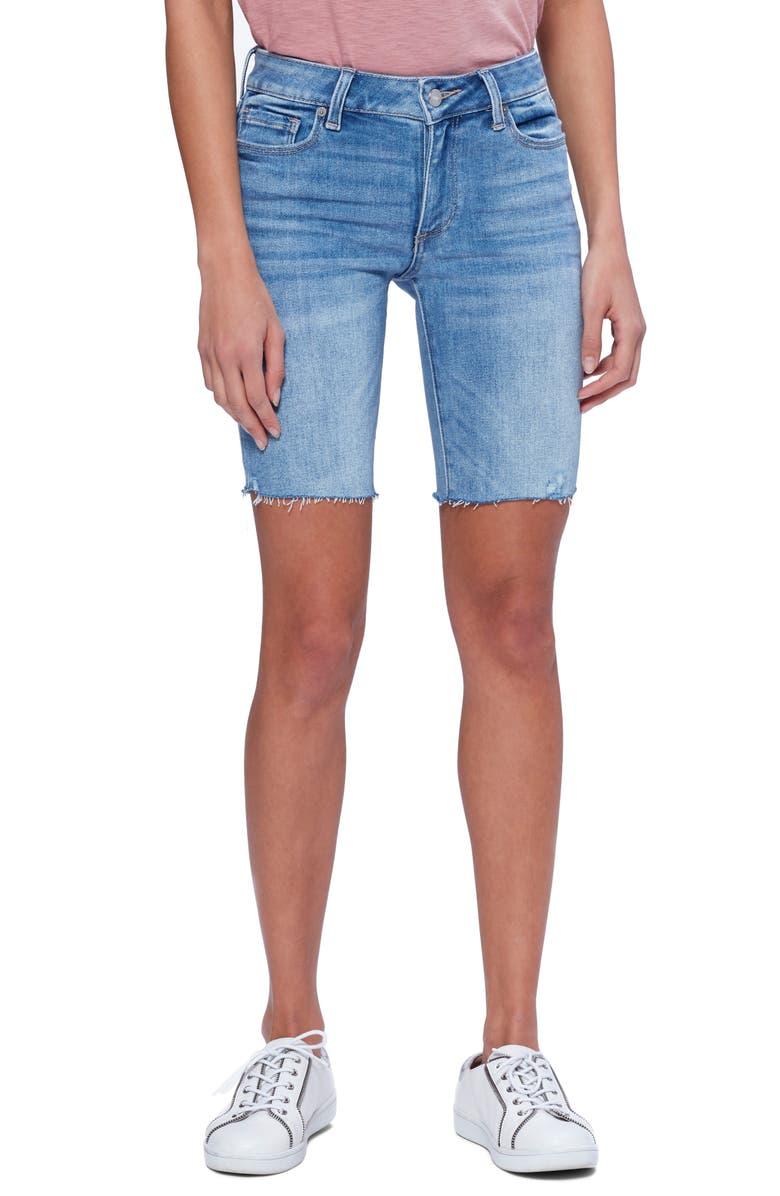 PAIGE Vintage - Jax Cutoff Bermuda Shorts, Main, color, KAYSAN DISTRESSED