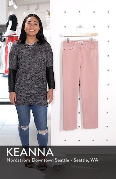 Hoxton High Waist Straight Ankle Raw Hem Jeans, sales video thumbnail