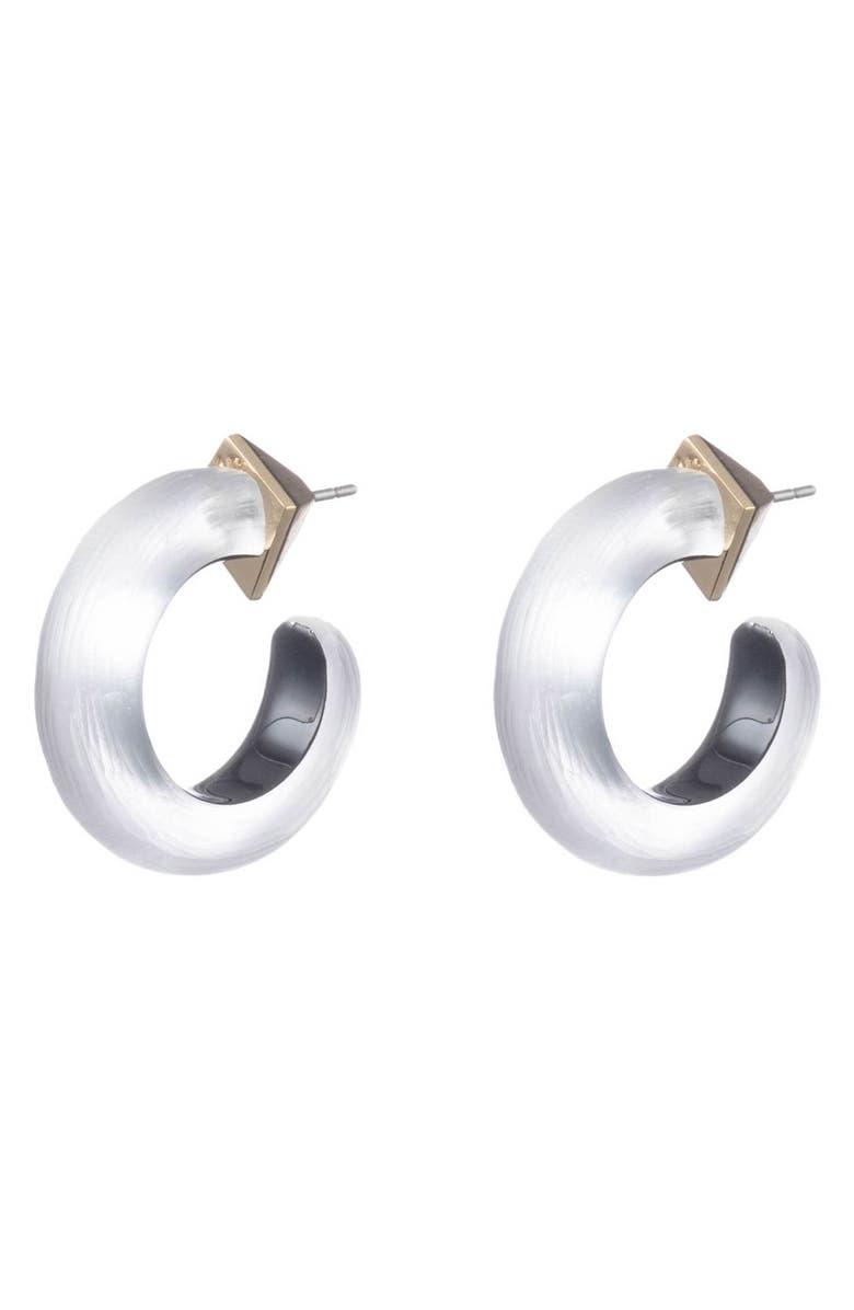 ALEXIS BITTAR Hoop Earrings, Main, color, SILVER