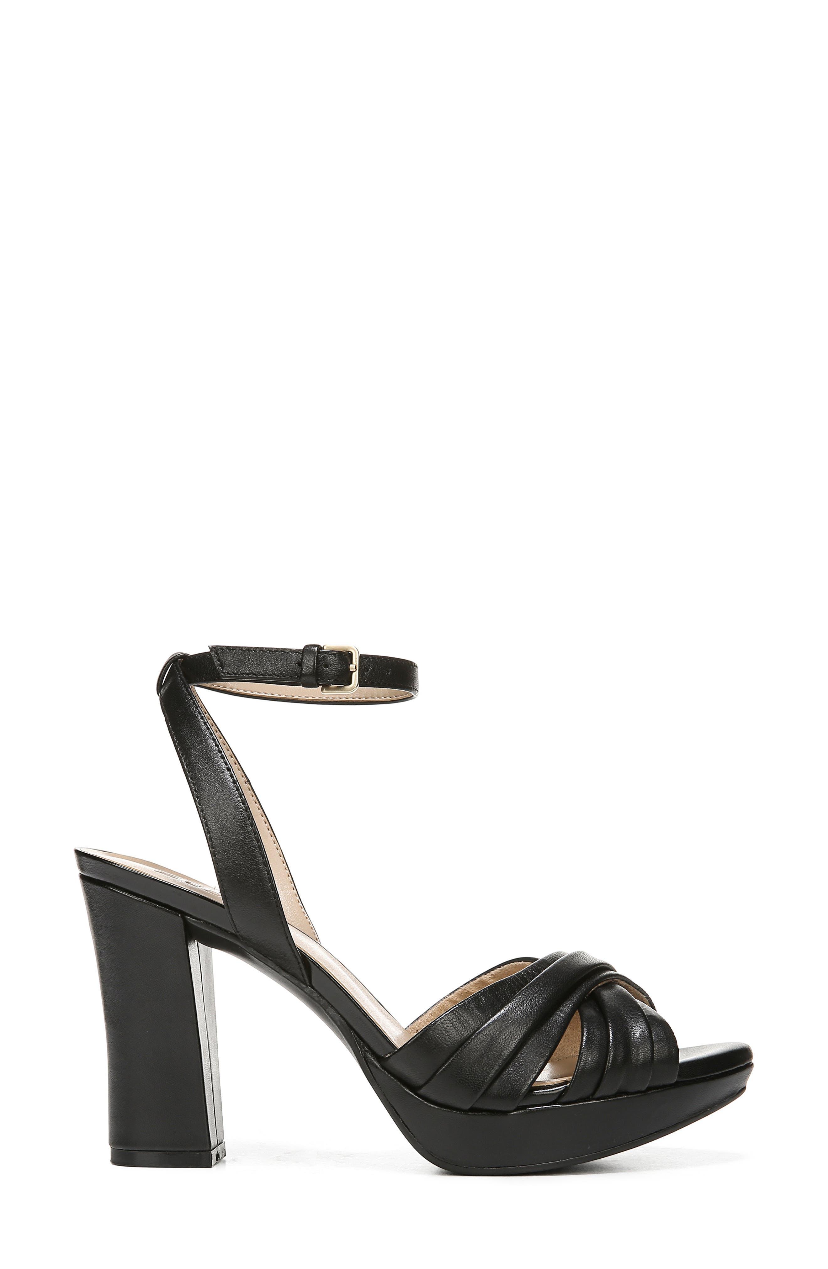 ,                             Avril Ankle Strap Sandal,                             Alternate thumbnail 3, color,                             BLACK LEATHER