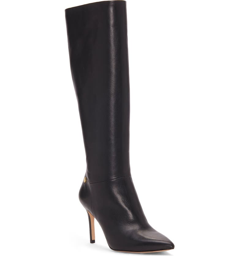 LOUISE ET CIE Sevita Tall Boot, Main, color, BLACK LEATHER