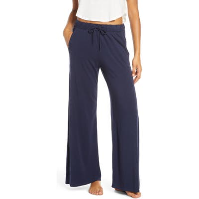 Groceries Apparel Winslet Wide Leg Pajama Pants, Blue