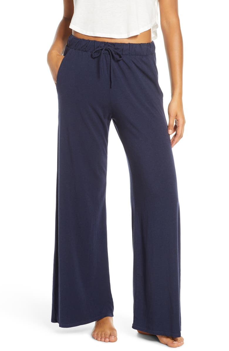 GROCERIES APPAREL Winslet Wide Leg Pajama Pants, Main, color, INK