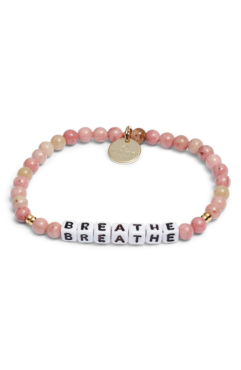 LITTLE WORDS PROJECT Believe Bracelet, Main, color, RHODONITE WHITE
