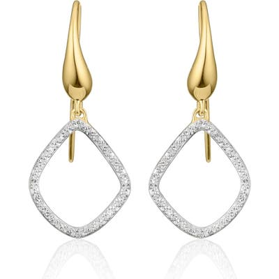 Monica Vinader Riva Kite Diamond Drop Earrings