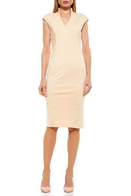 Image of Alexia Admor Scuba Midi Sheath Dress