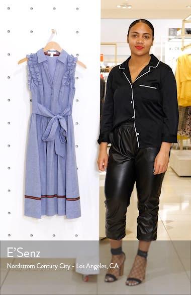 Ruffle Trim Shirtdress, sales video thumbnail