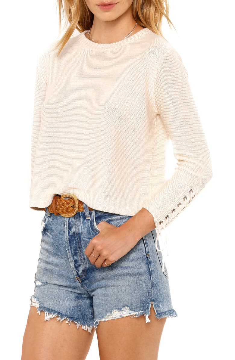 Heartloom Lace Up Sleeve Detail Sweater