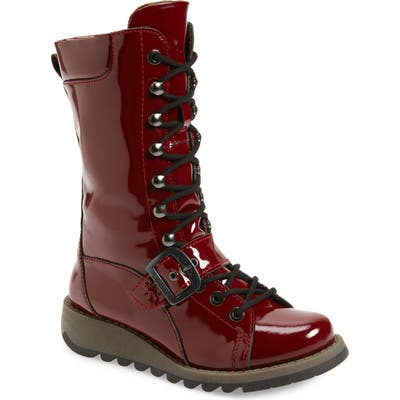 Fly London Selu Lace-Up Boot, Burgundy