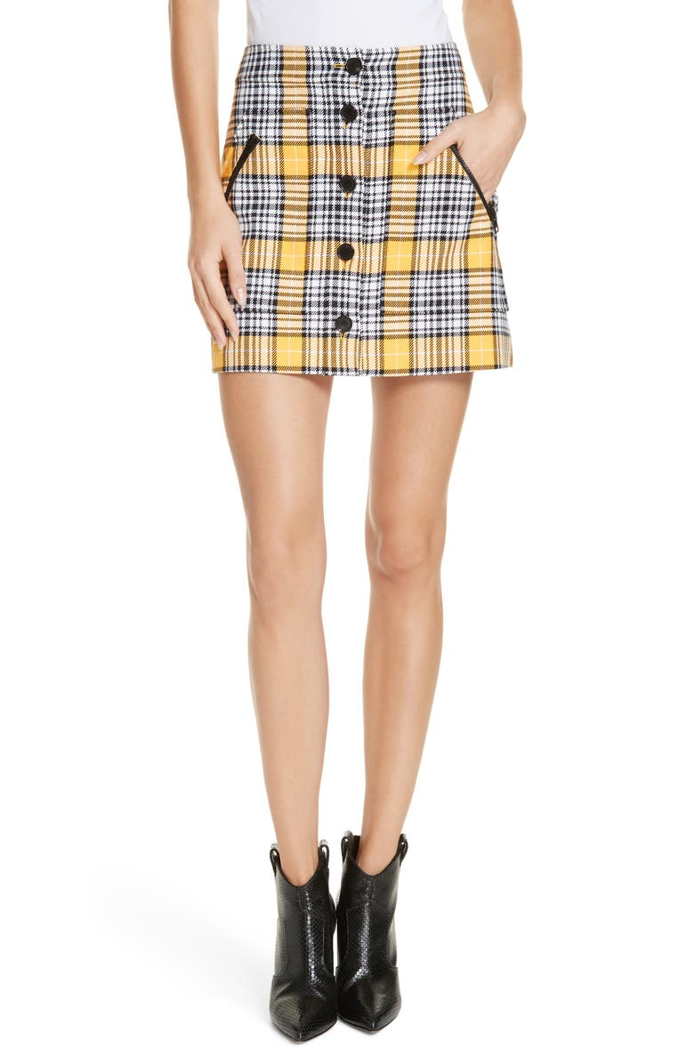 VERONICA BEARD Monroe Plaid Miniskirt, Main, color, 750