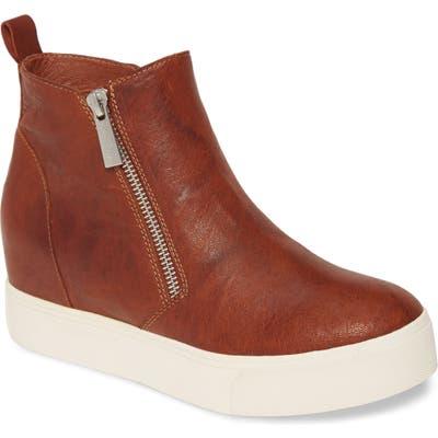 Jslides Sky Platform Zip Sneaker, Brown