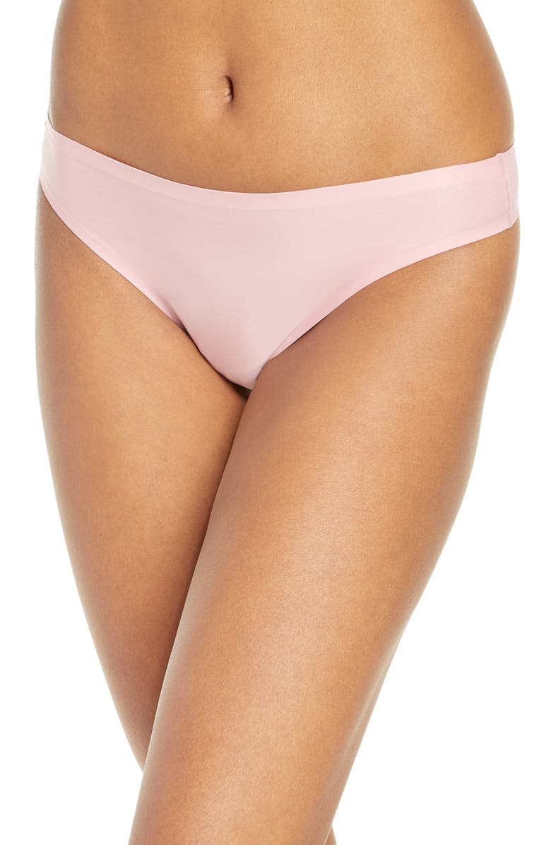 CHANTELLE LINGERIE Soft Stretch Seamless Thong, Main, color, ROSE TUTU