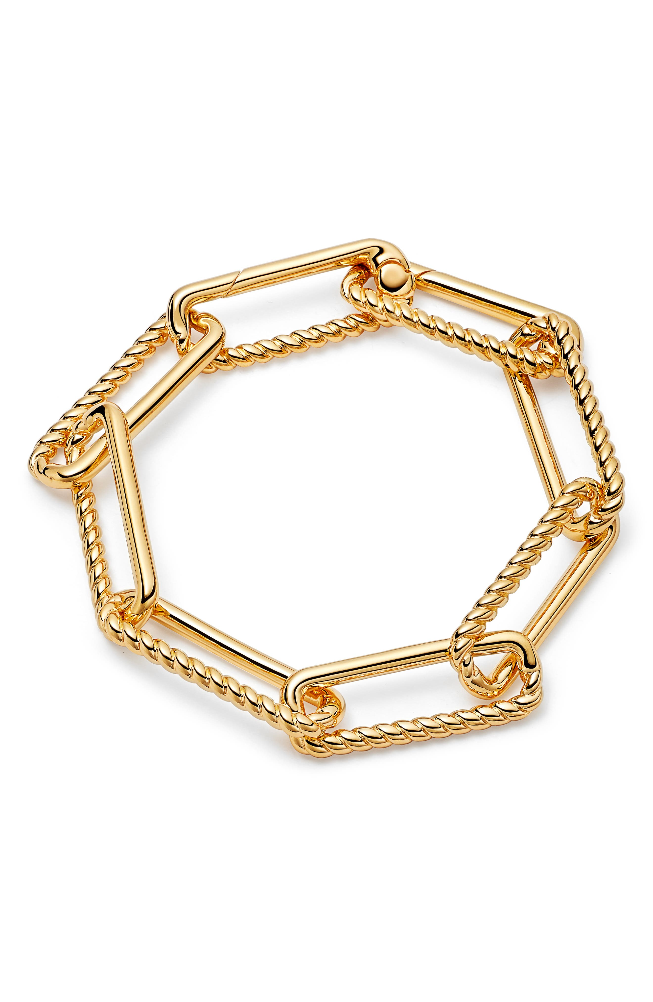 Chunky Rope & Link Bracelet