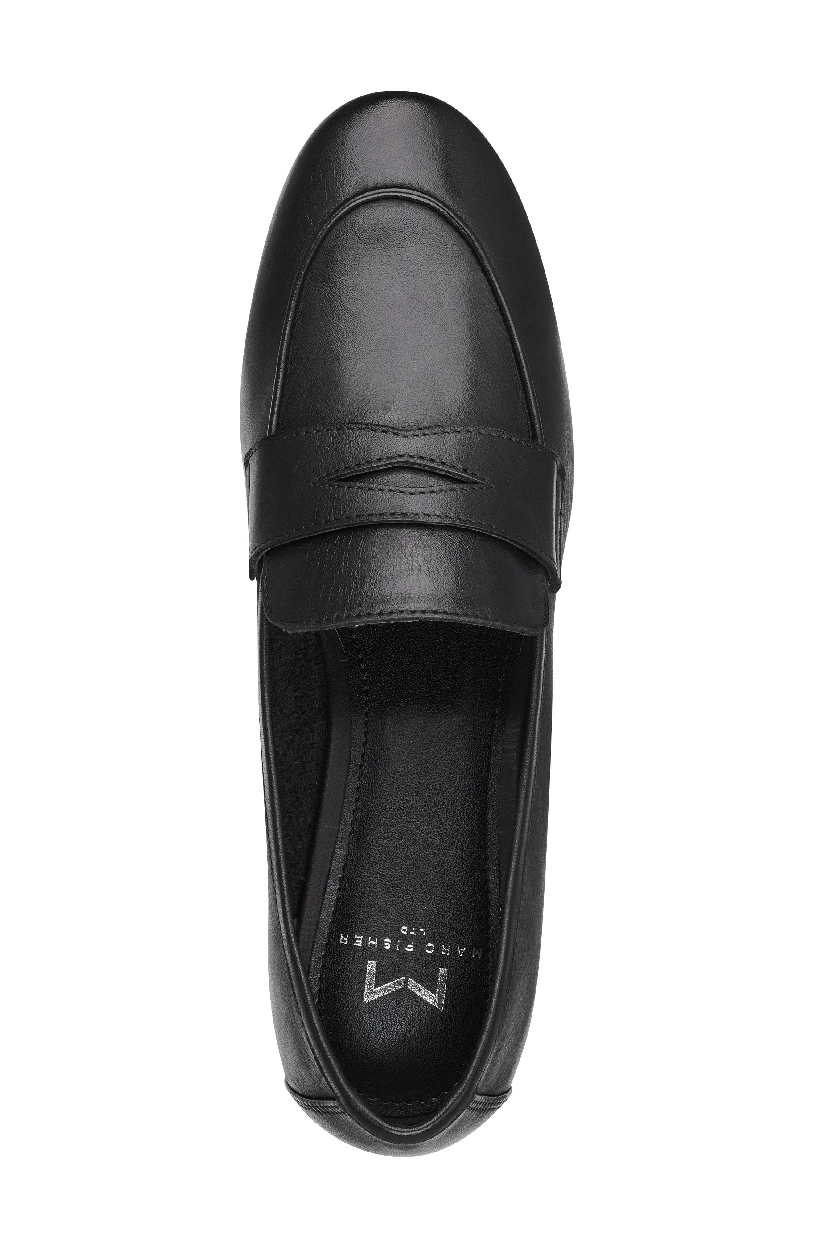 ,                             Chang Penny Loafer,                             Alternate thumbnail 5, color,                             BLACK LEATHER