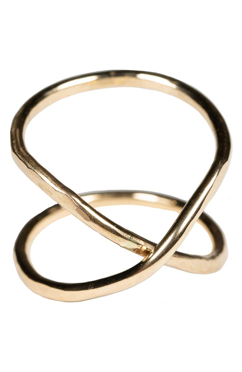 NASHELLE Hourglass Ring, Main, color, GOLD