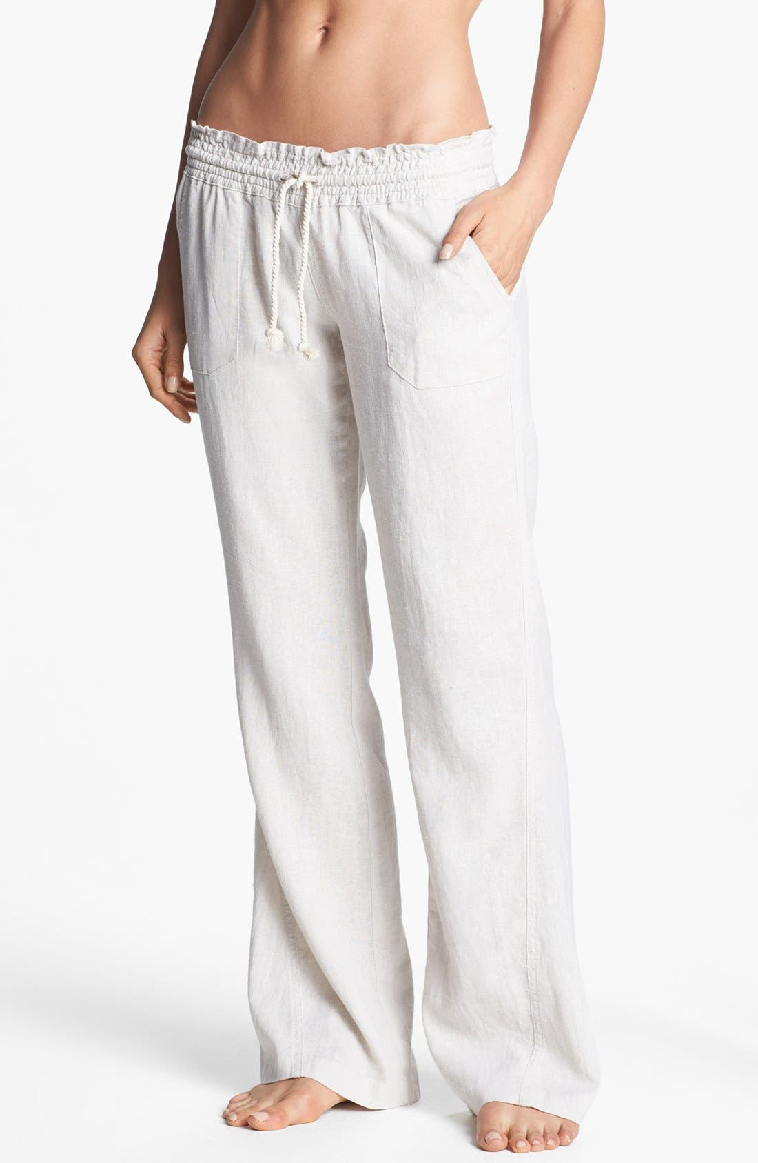 'Oceanside' Beach Pants, Main, color, STONE