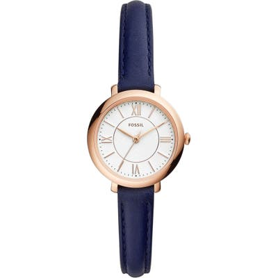 Fossil Mini Jacqueline Leather Strap Watch, 27Mm