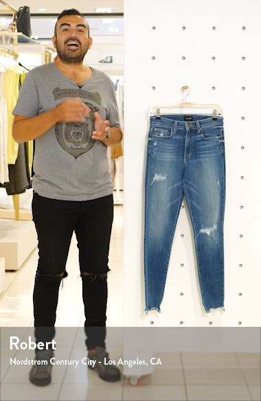 The Charlie Ripped Destroyed Hem Ankle Skinny Jeans, sales video thumbnail