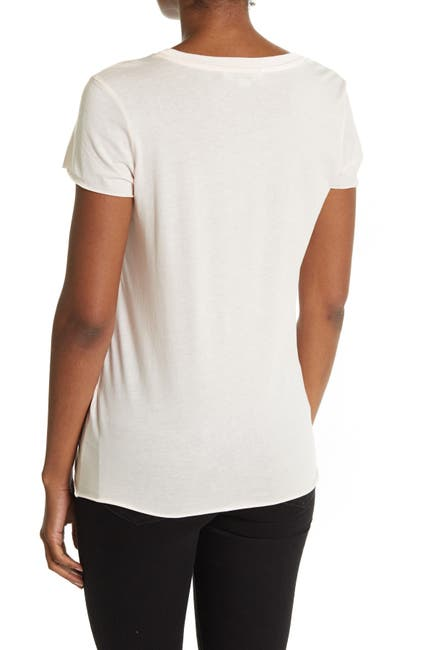 Image of ALLSAINTS Arie Ruched Hem T-Shirt