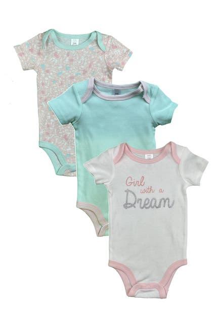 Image of Modern Baby Short Sleeve Assorted Bodysuit - Pack of 3