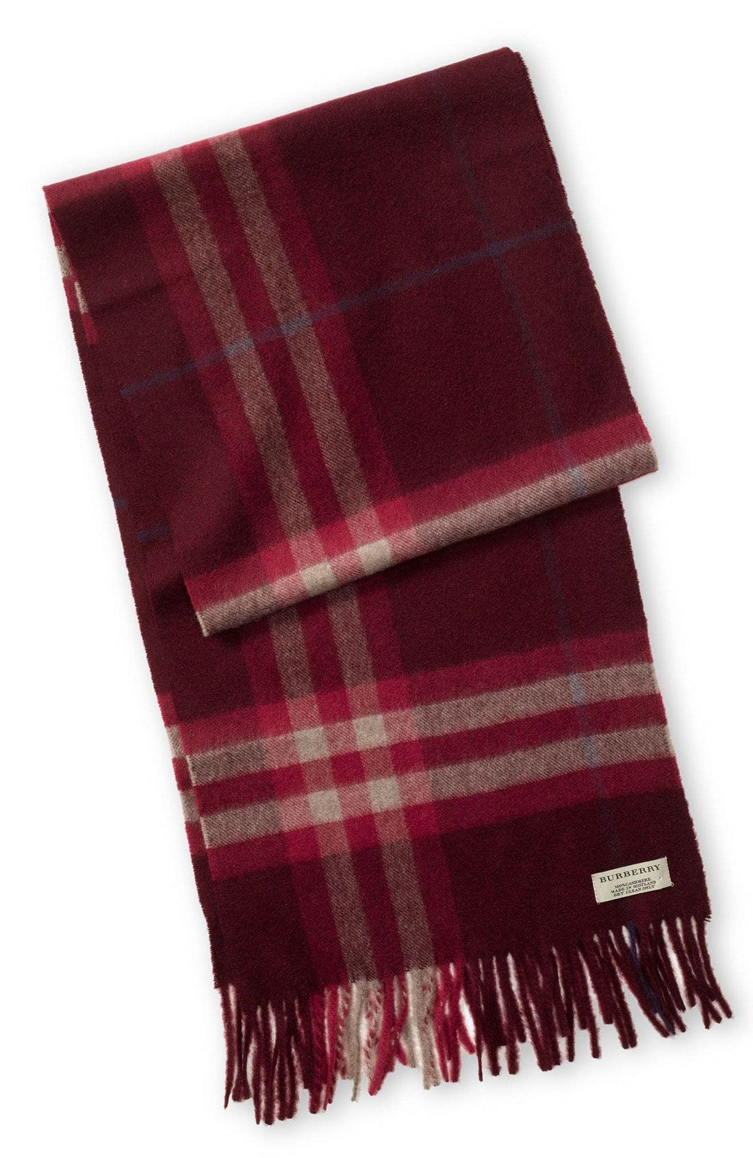 ,                             Heritage Check Cashmere Scarf,                             Main thumbnail 35, color,                             601