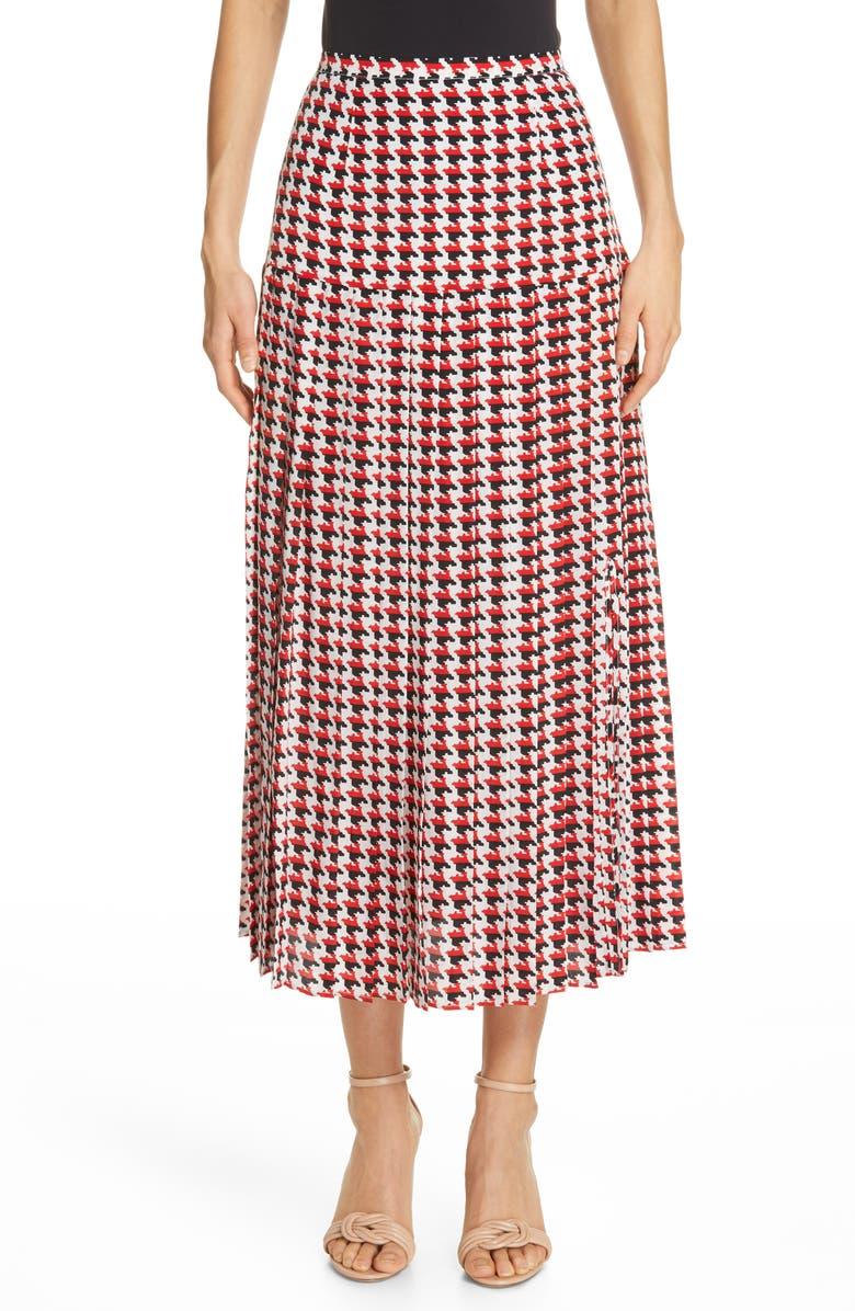 eea62f7925 Tina Houndstooth Print Silk Skirt, Main, color, 600