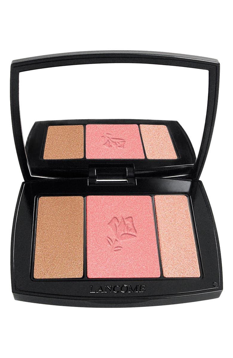 LANCÔME Blush Subtil All-In-One Contour, Blush & Highlighter Palette, Main, color, 323 ROSE FLUSH