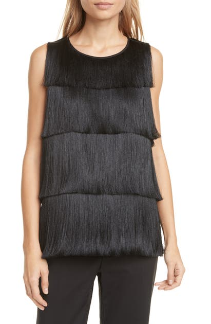 Club Monaco Tops LAYERED FRINGE SLEEVELESS TOP