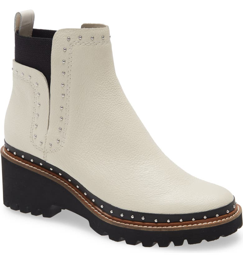 DOLCE VITA Huey Studded Bootie, Main, color, IVORY LEATHER