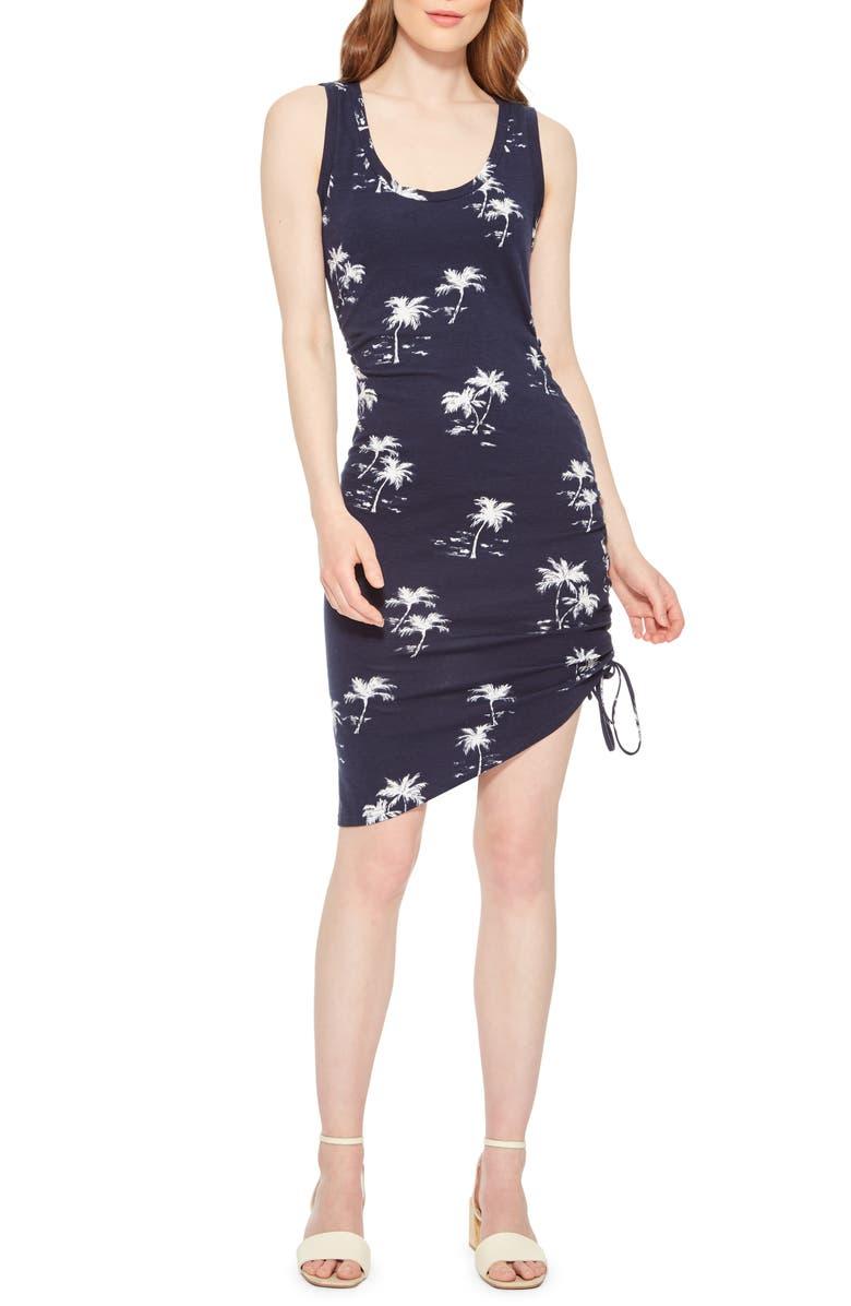 PARKER Freddie Floral Cinch Body-Con Dress, Main, color, MAUI BEACH