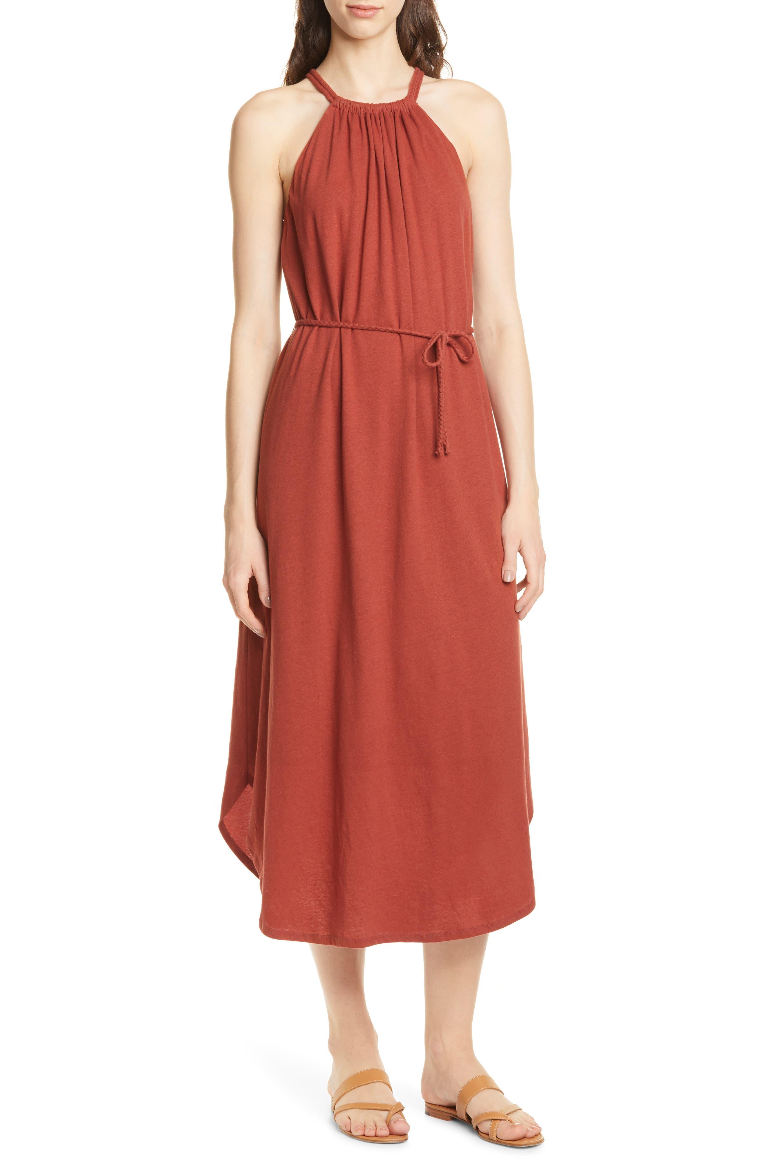 Joie Meribah Midi Dress, Red
