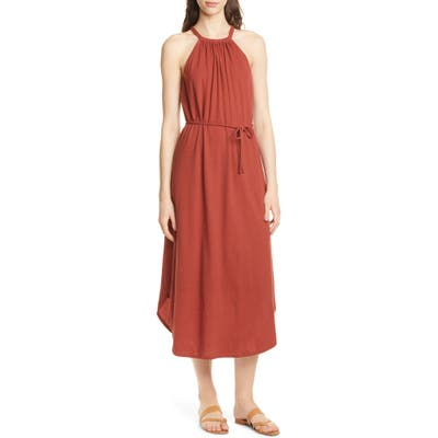 Joie Meribah Midi Dress, Red