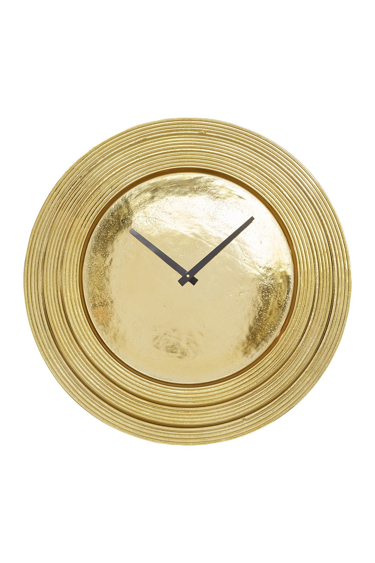 "Image of Willow Row Round Gold Aluminum Layered Rim Wall Clock - 24"" X 24"""