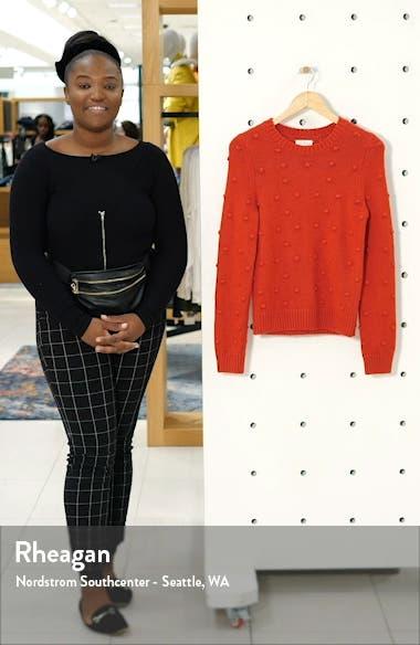 Bobble Stitch Crewneck Cotton Blend Sweater, sales video thumbnail