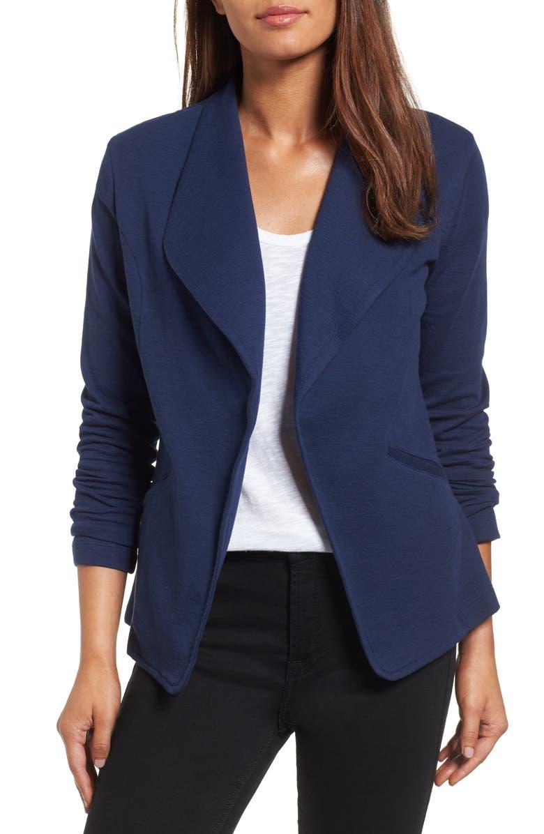 CASLON<SUP>®</SUP> Knit Blazer, Main, color, 410