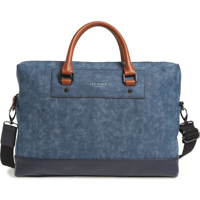 Ted Baker London Pitza Faux Leather Document Bag - Blue