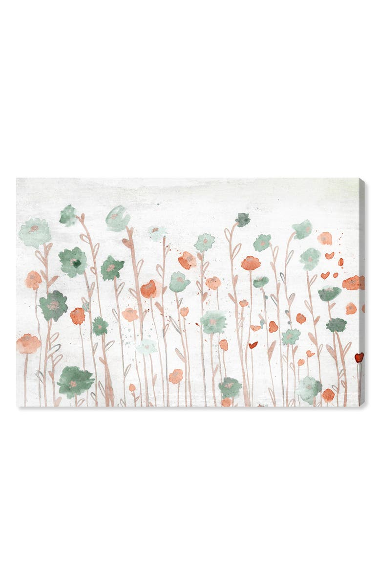 OLIVER GAL Beautiful Growth Orange Canvas Wall Art, Main, color, WHITE ORANGE TEAL GREEN