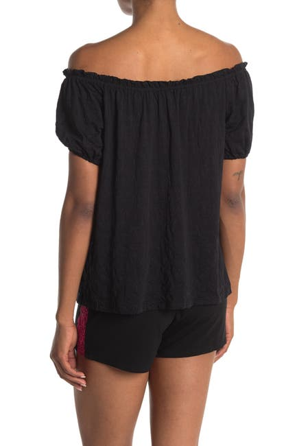 Image of Cosabella Deco Short Sleeve PJ Top