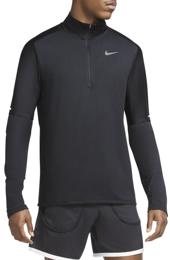 Nike Men's Dri-fit Element Half-zip Running Top In Black/ Reflective Silv
