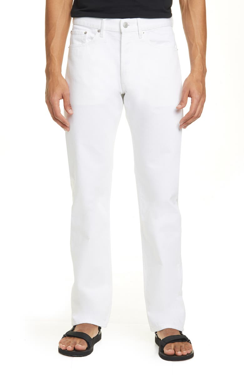 DRIES VAN NOTEN Panna Straight Leg Jeans, Main, color, WHITE