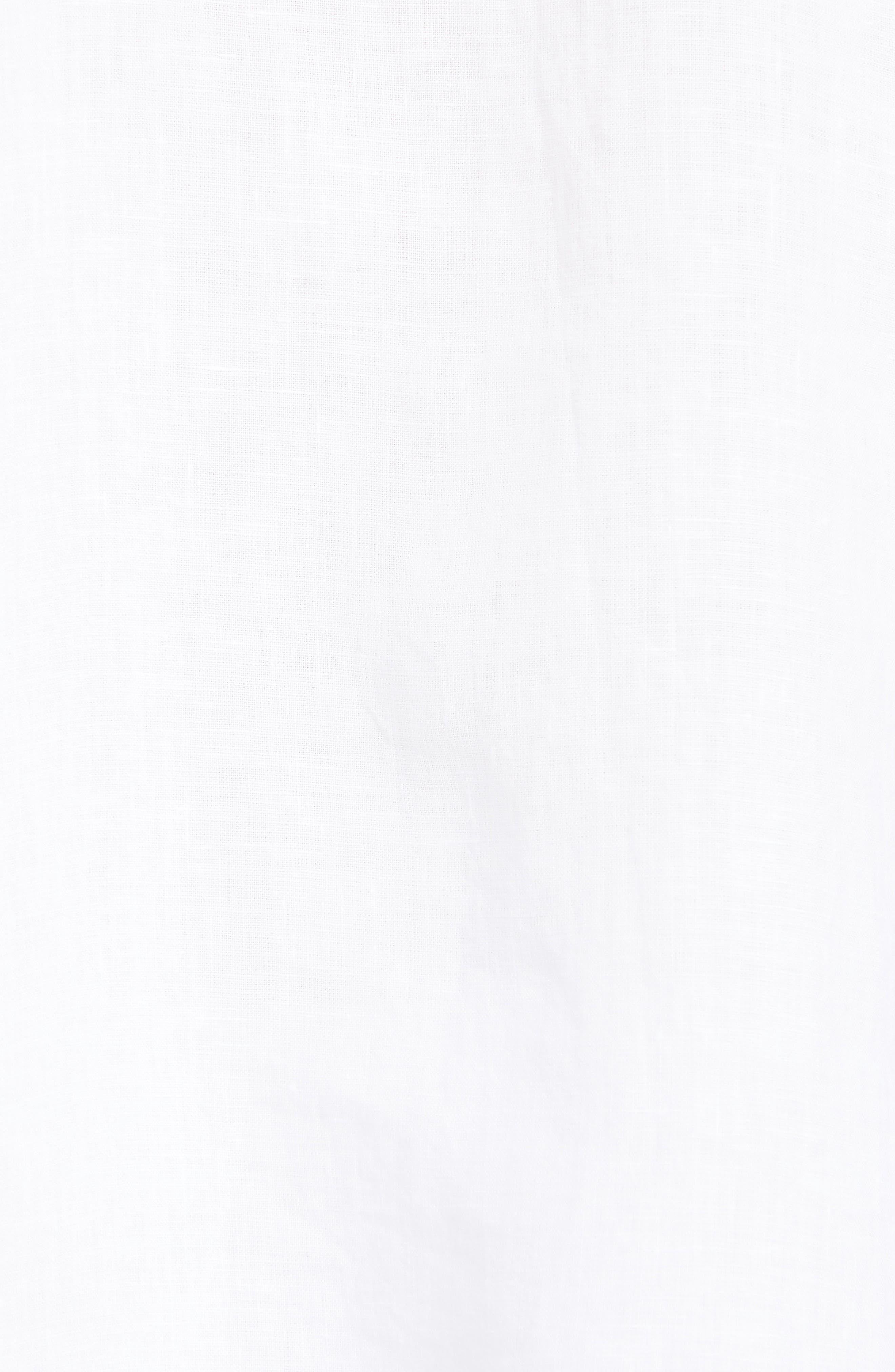 ,                             Organic Linen Shirt,                             Alternate thumbnail 5, color,                             WHITE