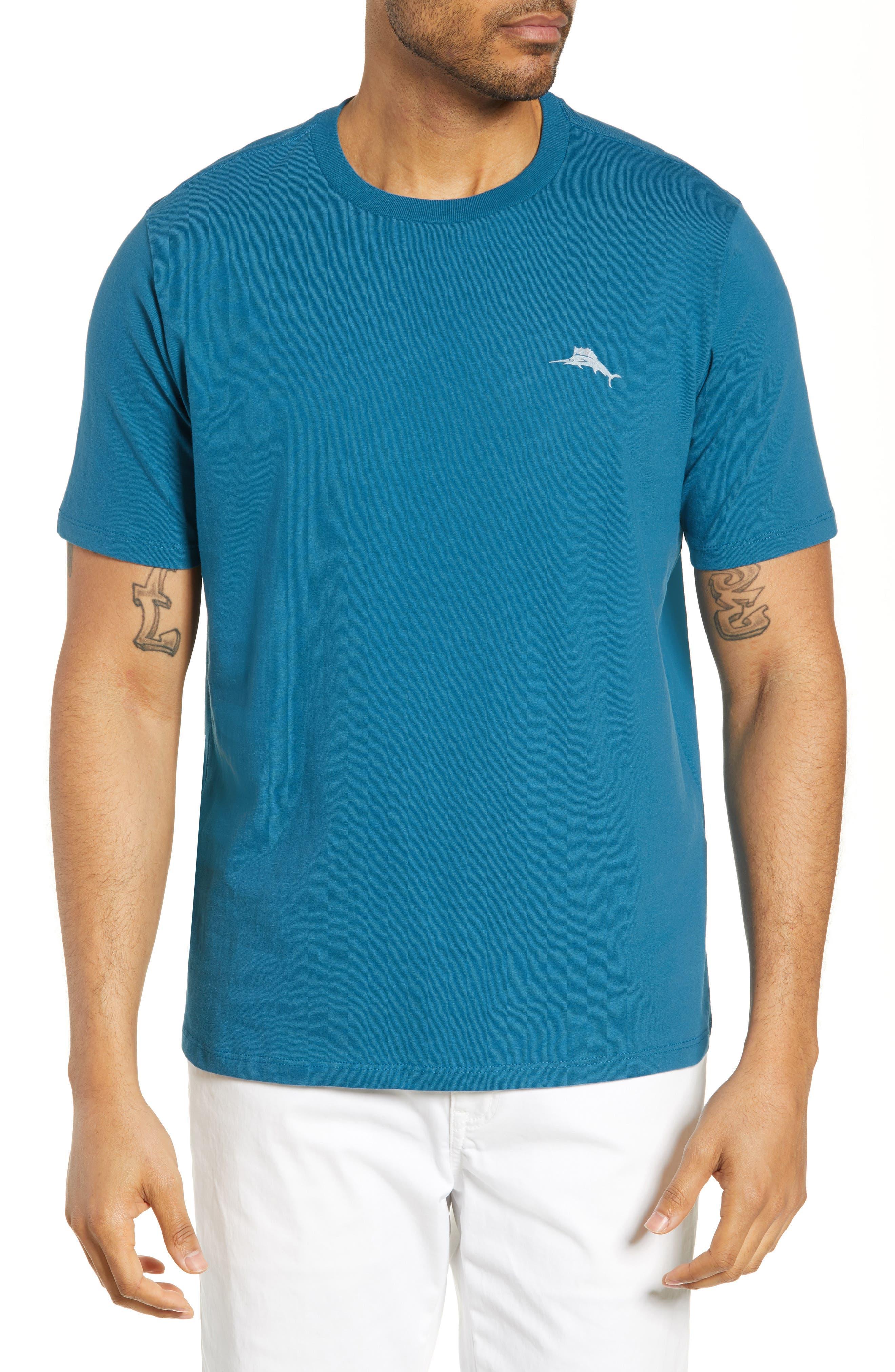 Tommy Bahama Bench Press Bar T-Shirt, Blue