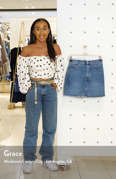 Cherry Denim Miniskirt, sales video thumbnail