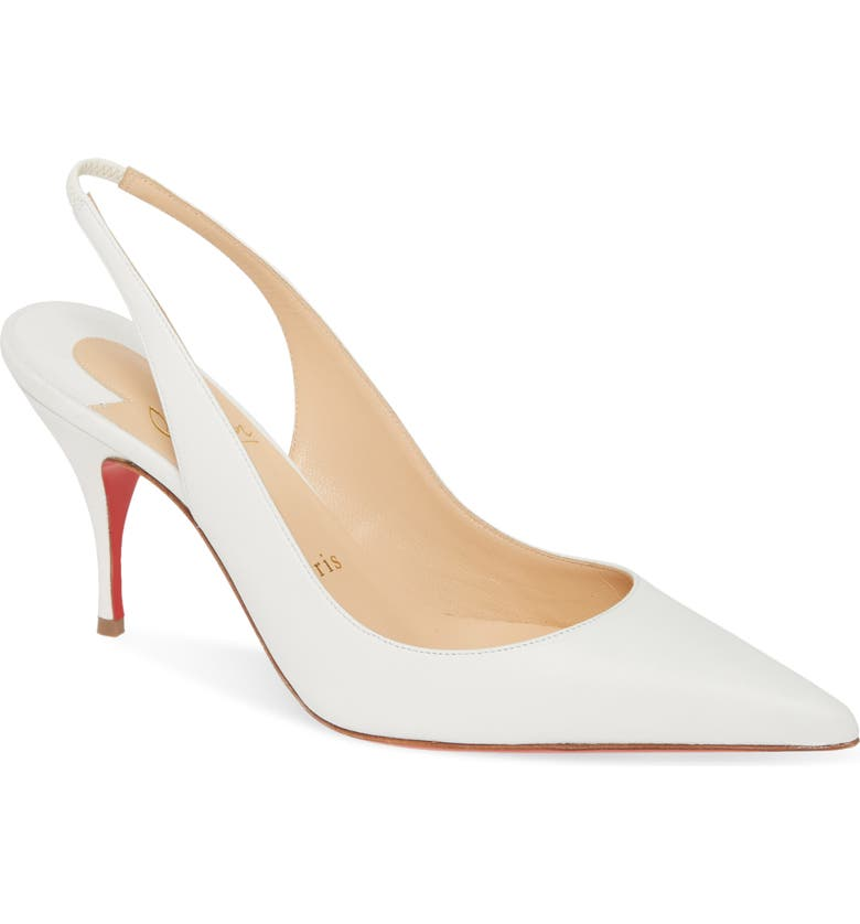 CHRISTIAN LOUBOUTIN Clare Slingback Pump, Main, color, WHITE