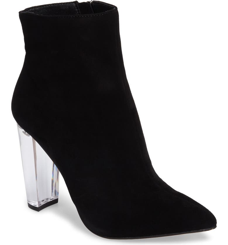 JESSICA SIMPSON Teddi Crescent-Heel Bootie, Main, color, 001